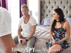 NANNYSPY Dad Makes His Son WATCH him FUCK his NANNY Girlfriend Thumb