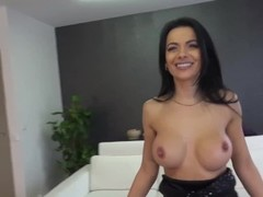 Monster Facial Covers Petite Hottie with Big Tits! Thumb