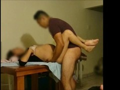 Pregnant wife is fucked in the kitchen on the table until filled with cum Thumb