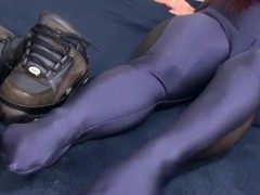 Blue Catsuit Buffi Posing Thumb