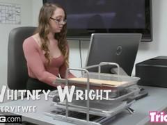 Trickery - Whitney Wright fucks a big dick for a job Thumb
