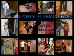 Stomach Sitting and Kneeling (Fetish Obsession - Stomach Demolition) Thumb