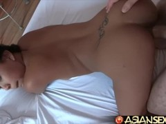 Asian Sex Diary - Big white cock has threesome with two Filipina cuties Thumb