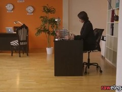 Office babe fingered and pussylicked Thumb