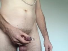 Hard fetish BDSM masturbation: CBT and anal stretching Thumb