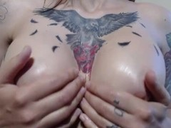 Closeup Titty Fuck - Vintage Stella Von Savage Clip - Big Tattooed Tits Thumb