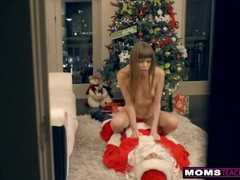 MomsTeachSex - Santa's Horny Helpers In Christmas Threesome S9:E7 Thumb