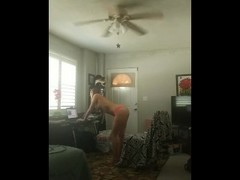 Hidden cam of my wife playing with her pussy online with the blinds open Thumb
