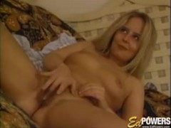 EDPOWERS - Petite blonde wanks before strapon and creampie Thumb