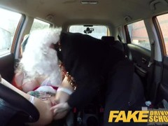 Fake Driving School Sexy horny squirting festive anal Christmas fuck Thumb