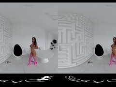 StasyQVR - 180 VR Porn Video - Frisky Fishnets with SilyQ Thumb