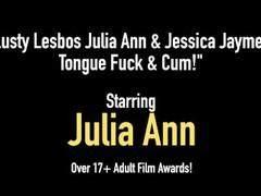 Lusty Lesbos Julia Ann & Jessica Jaymes Tongue Fuck & Cum! Thumb