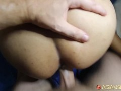 Asian Sex Diary - Big white cock blows load in pretty Filipina MILF Thumb