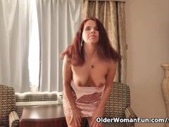 Canadian milf Candy strips off her party dress Thumb