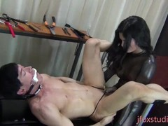 lifestyle domme pegging her caged slut Thumb