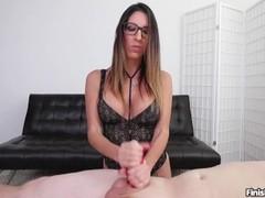 Sexy brunette POV handjob Thumb