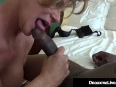 Busty Cougar Deauxma Bangs A Big Black Cock! Thumb