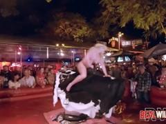 Slutty Bull Riding Naked Coeds 2 UNCENSORED Thumb