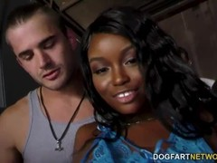 Beautiful Ebony Kandie Monaee Is Blowing Twelve Horny Dudes Thumb