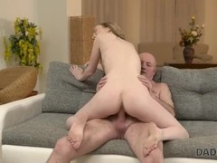 DADDY4K. Sweetheart moans while old manhood is inside her moist twat Thumb