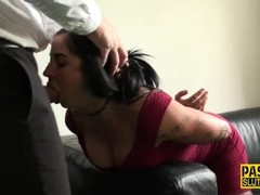 Glam submissive pounded Thumb
