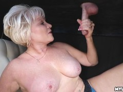 Cum on This MILFS Tits at the Milking Table Thumb