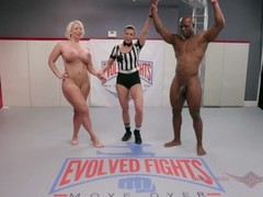 Alura Jenson and WIll Tile go at their wrestling match only like the Navy and Marines can Thumb