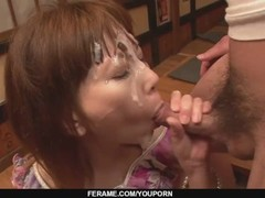 Minami Kitagawa´s foursome ends in an asian cum facial - More at javhd.net Thumb