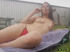 Suburban Smoking Slut : teasing you while I sunbake and smoke Thumb