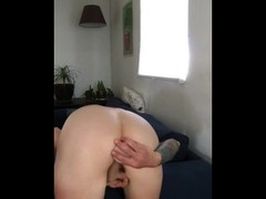 Trying Not to Cum DP with Toys Thumb