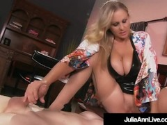Cock Hungry Cougar Julia Ann Rides Boy Toy's Face! Thumb