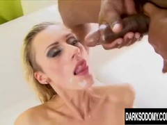 Brittany Lawrence Gets Her Holes Destroyed by Four Cocks Thumb