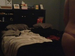 REAL roommate on hidden spy cam caught taking pics of her PUSSY for bf! Thumb