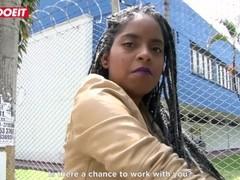 LETSDOEIT - Ebony Latina Tricked Into Sex By Horny Students Thumb