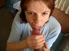 Ugly Mature Blowing A Dude Thumb