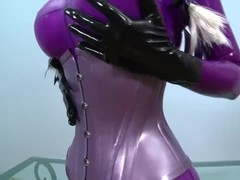 latex lucy with nice dildo Thumb