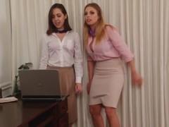 Office ladies hogtied Thumb