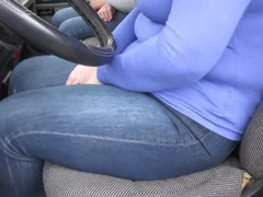 Two girls piss themselves inside a truck Thumb