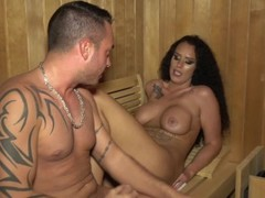 Creampie in the Sauna fucking with a young Latina without a Condom Slut Sex Thumb