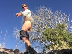 Sexy Hiker Ass Fucking Herself Sucks Off Stranger Thumb