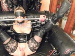 Slave Slut-Orgasma Celeste Fuck Machine torture anal squirt Thumb