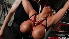 PORNSTARPLATINUM Busty Alura Jenson Fucks Dildo In BDSM Play Thumb