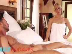 Family Hookups - Blonde Step mom Cherie Deville sucks off stepson Thumb