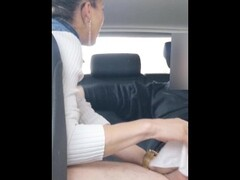 SHE SUCKS AND SWALLOW CUMSHOT IN CAR -  SLOOPY BLOWJOB CUTE BLONDE Thumb