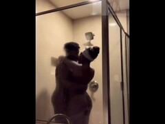Ebony couple sensual shower sex Thumb