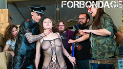 CrowdBondage - Big Butt Babe Sofia Curly Tied Up For Rough Fuck Session Thumb