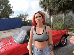 Roadside - Tattoo Redhead Fucks To Get Her Classic Car Fixed Thumb