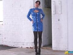 Mistress PVC Striptease and Humiliation JOI Thumb
