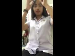 Thai student พึ่งเลิกเรียนมาโชว์เสียว เสียงดีจริงๆสาวคนนี้ Thumb