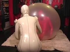 Latex Bondage inside balloon Thumb
